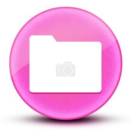 Ordner Augapfel glänzend elegant rosa runde Taste abstrakte Illustration