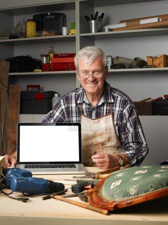 Craftsman in his workshop