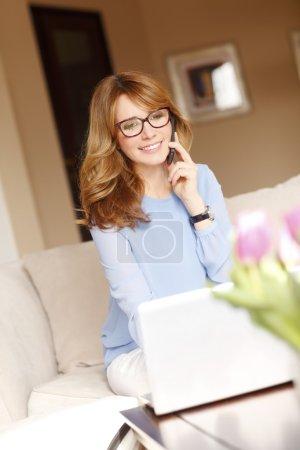 businesswoman working online