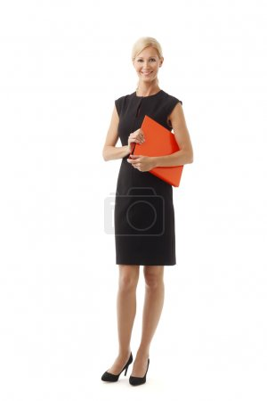 Lawyer woman holding offical documents