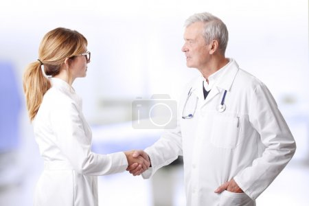 medical teamshaking hands