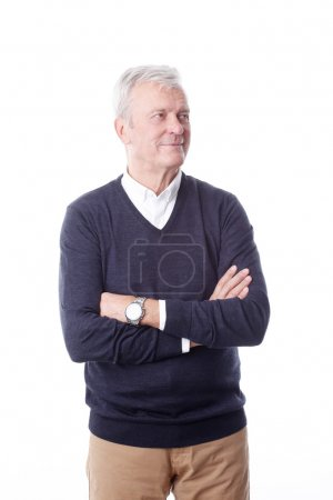 Senior professional man standing