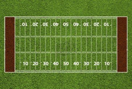 Foto de Campo de fútbol americano con marcas y líneas de la yarda. texturadas de hierba. - Imagen libre de derechos
