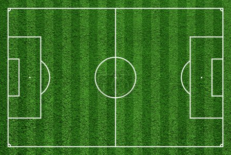 Top view of soccer field or football field.