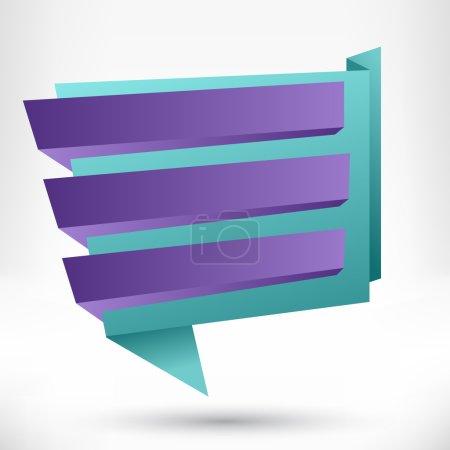 Blank empty origami design element. Banner background