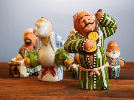 Traditional Uzbekistan souvenirs - handmade ceramic doll