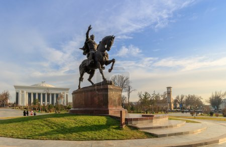 Statue of Tamerlane and Palace of Forums in center...