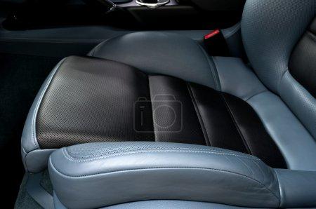 Leather car seat.