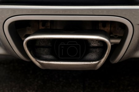 Sport car exhaust.