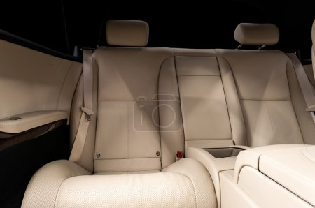 Car rear leather seats.