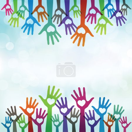 Illustration for Illustration vector of hands givng love and charity - Royalty Free Image
