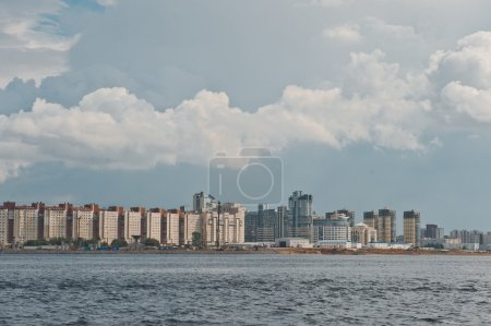 Beautiful views of the city from the motor ship go...