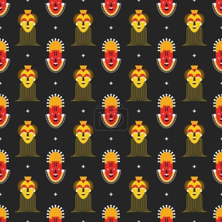 Wzór maski afrykańskie