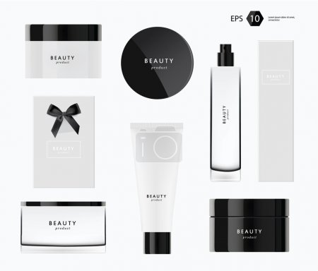 A vector modern beauty package presentation set...