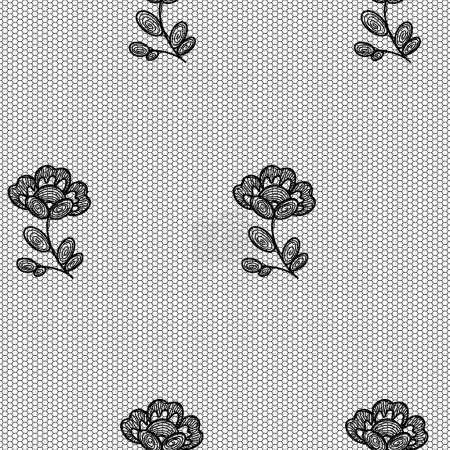 Lacy flower seamless pattern.