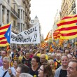 Up to a million people converge on Barcelona to jo...
