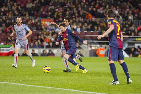 Leo Messi in action