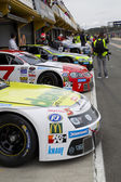 Some cars at Race of Whelen Nascar Euro Series