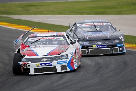 Some cars compete at Race of Nascar Whelen Euro Series
