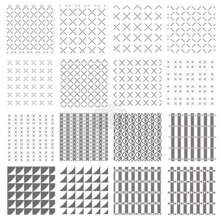 Illustration pour Ensemble de motif vectoriel pour la répétition de toile de fond - image libre de droit