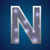 Alphabet set in diamonds and silver Vector