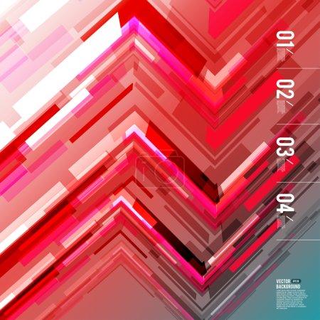 Illustration pour Technologie abstraite ligne mouvement mélanger fond de couleur avec la lumière. Vecteur - image libre de droit