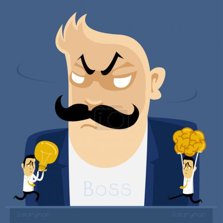 angry Boss action to salary men