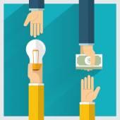 exchange money for idea