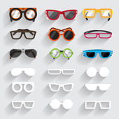 Eyeglass set icons