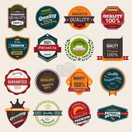 Set of retro vintage quality badges