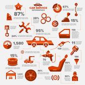 Car auto service infographics set illustration
