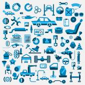 Car auto service icons set vector illustration
