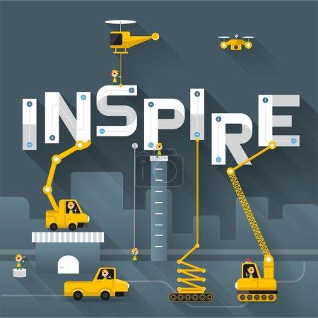 Illustration pour Engineering building text Inspirez-vous. Vecteur Illustrer - image libre de droit