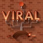 Word Viral in balls light