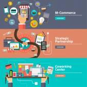 Flat design concepts for M-Commerce