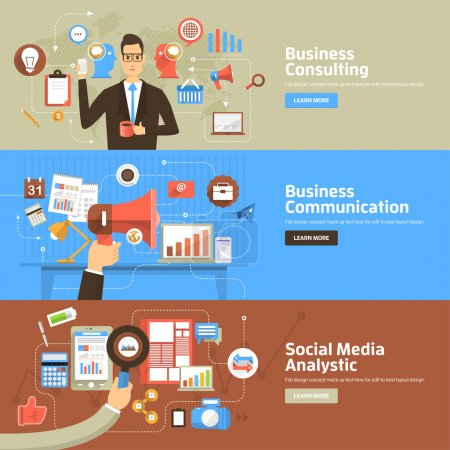 Flat design concepts for Business Consulting