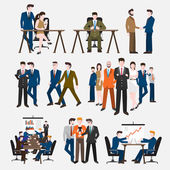Businesspeople acting in workplace