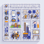 kit for concept business and workplace city