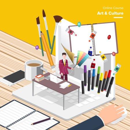 Art e-learning concept