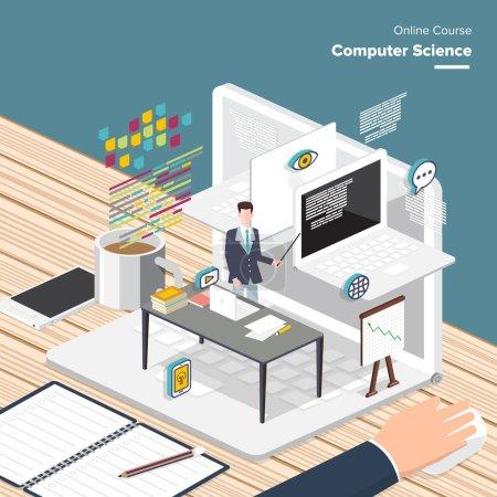 Online Computer sciences concept