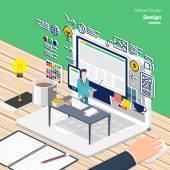 content graphic design concept