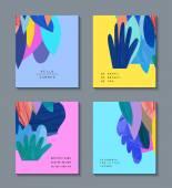 Set of creative universal floral cards with place for your text