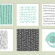Set of cards. Hand Drawn textures made with ink. V...