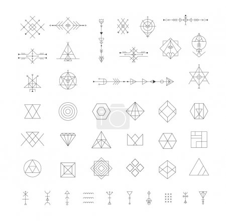 Set of vector trendy geometric icons