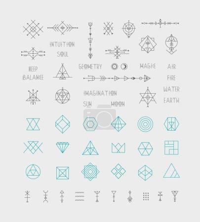 Set of trendy geometric icons