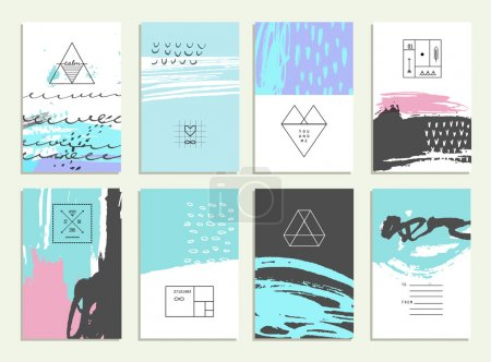 Collection of 12 artistic invitations