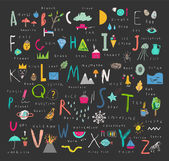 Cute alphabet Letters and words