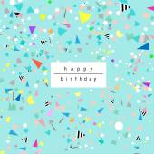 Birthday background with confetti Fun party card Vector