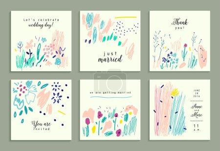 Set of creative gentle cards.