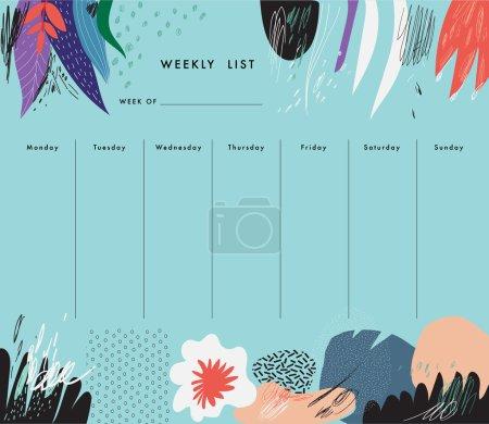 Weekly Planner Template.
